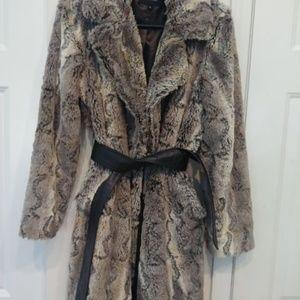 Vintage Nine West Faux Fur Blazer Jacket Sz Med
